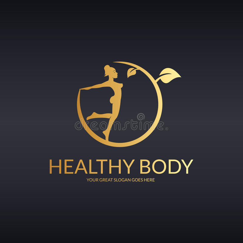 Gesundes bodu Logo stock abbildung