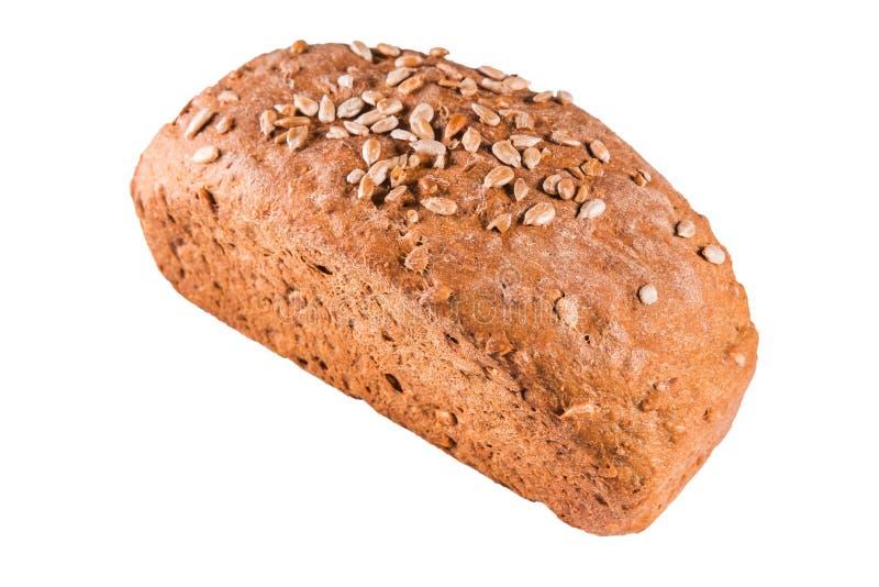 Gesundes Brot mit Samen auf einem Weiß lokalisierte Hintergrund lizenzfreie stockfotografie