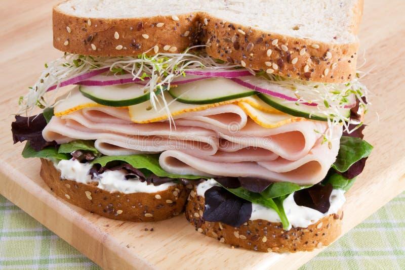 Gesundes die Türkei-Sandwich lizenzfreie stockfotos