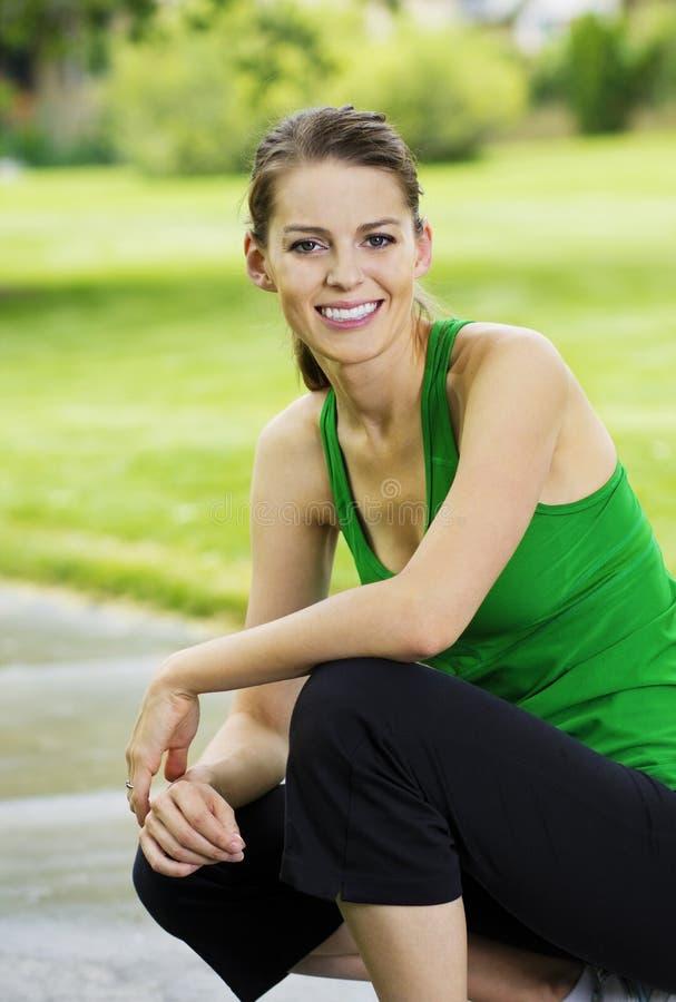 Gesundes Eignung-Frauen-Portrait lizenzfreies stockfoto