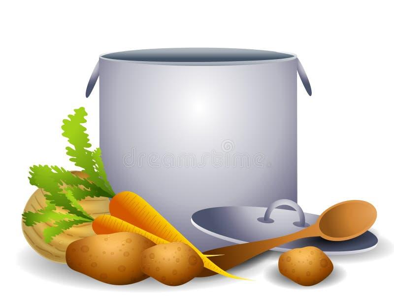 Gesundes Eintopfgericht oder Suppe lizenzfreie abbildung