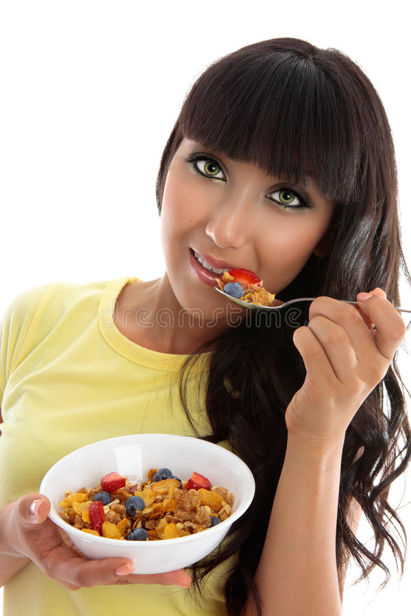 Gesundes Ernährungsfrühstück stockfoto