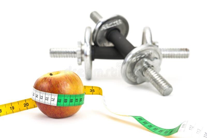 Gesundes Leben - Nahrung u. Trainieren lizenzfreies stockfoto