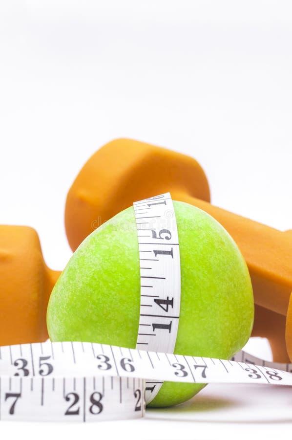 Gesundes Leben - Nahrung u. Trainieren lizenzfreies stockbild