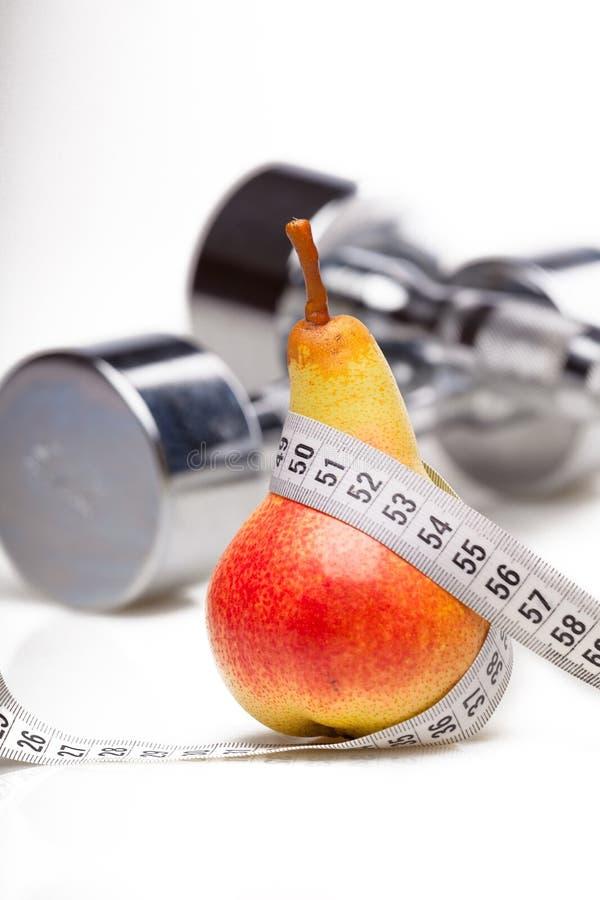 Gesundes Leben, Nahrung und Trainieren stockfotografie