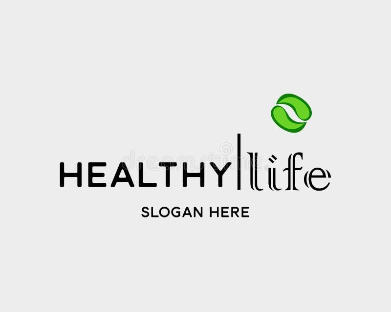 Gesundes Leben wird digitale Kampagne der Logofirmafahnen-Illustrations-sozialen Motivation deutlich vektor abbildung