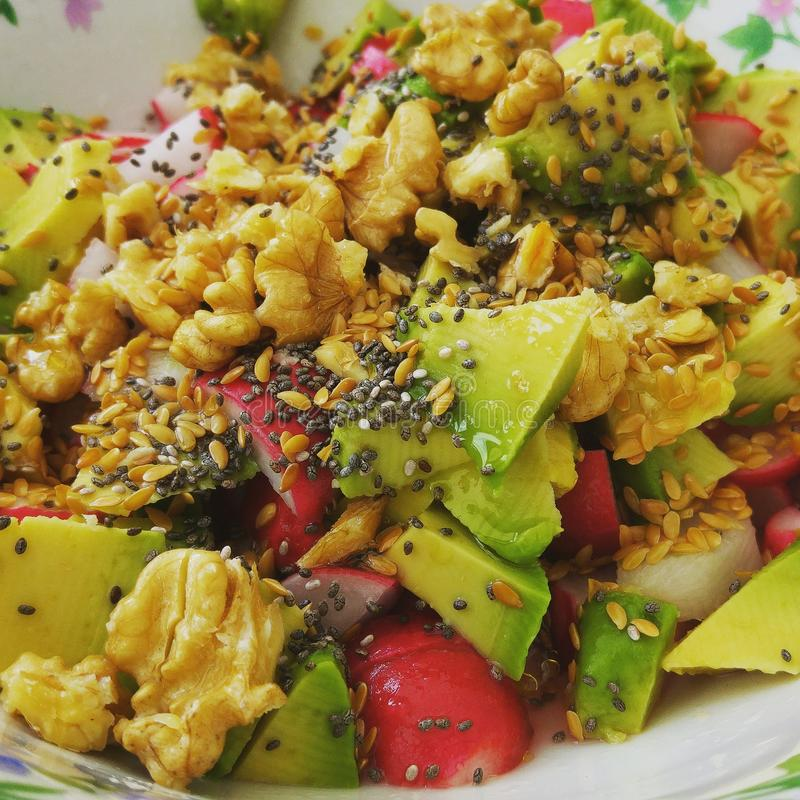 Gesundes Lebensmittel des strengen Vegetariers lizenzfreies stockbild