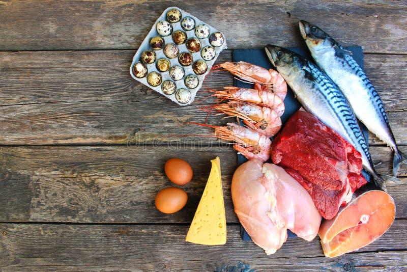 Gesundes Lebensmittel des tierischen Ursprungs stockfotos