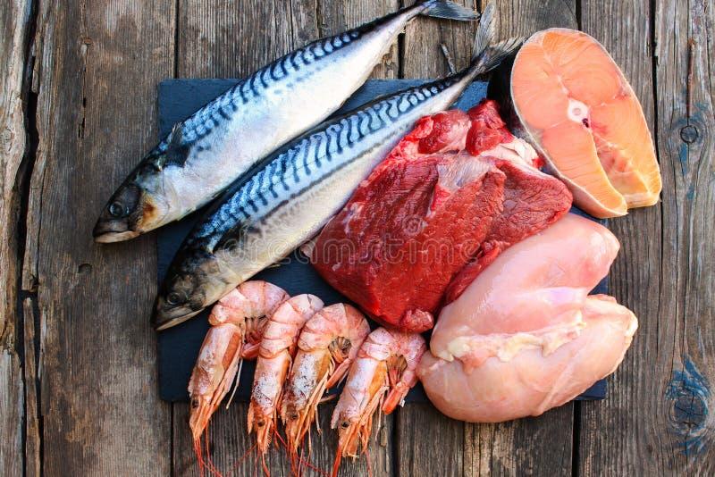 Gesundes Lebensmittel des tierischen Ursprungs stockfoto