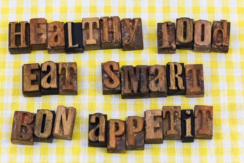 Gesundes Lebensmittel essen intelligentes Bon appetit lizenzfreie stockfotos
