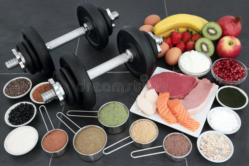 Gesundes Lebensmittel für Bodybuilder stockfotografie