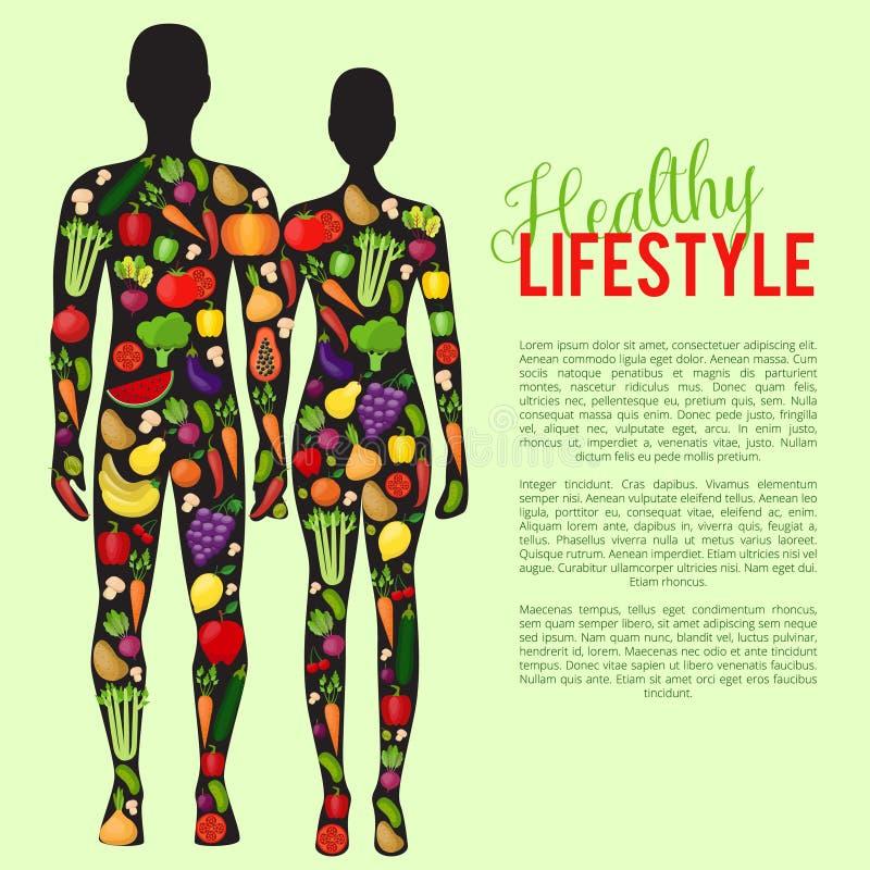Gesundes Lebensmittel mit Gemüse- und Fruchthintergrund Auch im corel abgehobenen Betrag lizenzfreie stockfotos