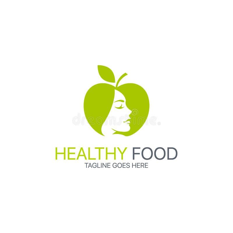 Gesundes Lebensmittellogo vektor abbildung