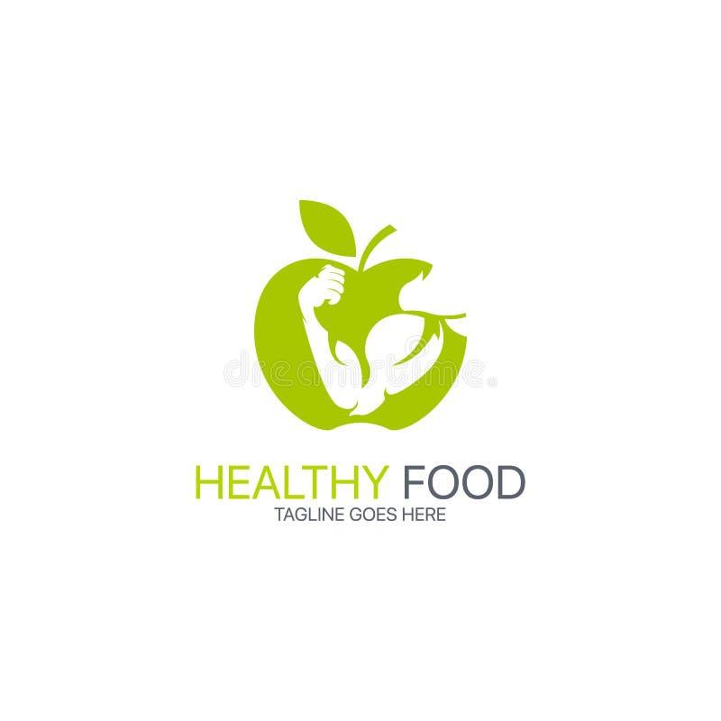 Gesundes Lebensmittellogo lizenzfreie abbildung