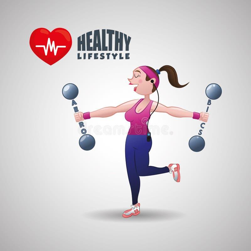 Gesundes Lebensstildesign Bodycare-Ikone Illustration, Vektorgraphik lizenzfreie abbildung