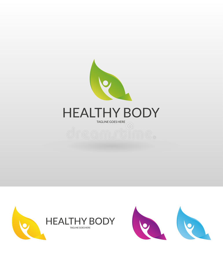 Gesundes Logo stock abbildung