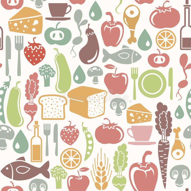 Gesundes Lebensmittelmuster lizenzfreie abbildung