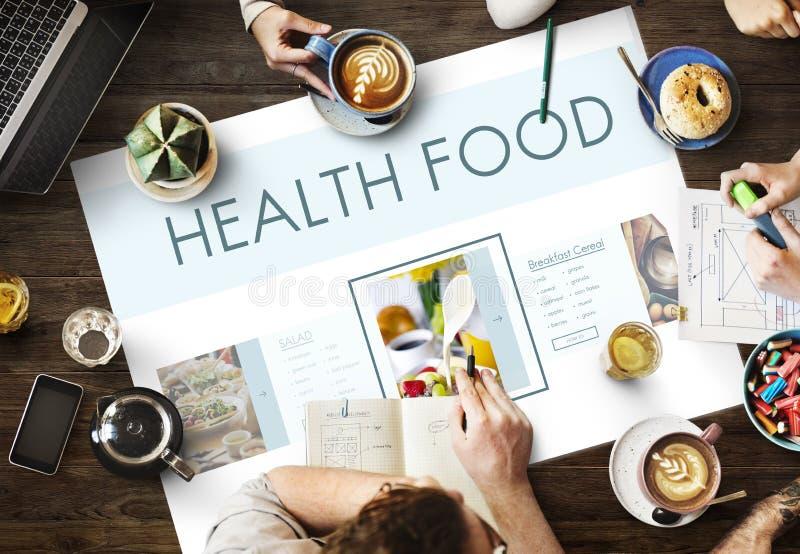 Gesundes Nahrungsmittelwohl-Lebensstil-Nahrungs-Konzept lizenzfreies stockbild