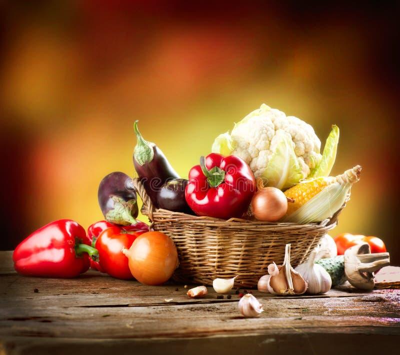 Gesundes organisches Gemüse lizenzfreies stockfoto