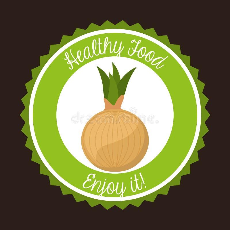 Gesundes vegetarisches Lebensmitteldesign stock abbildung