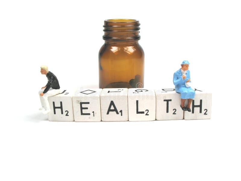 Gesundheit aus einer Flasche heraus stockfoto