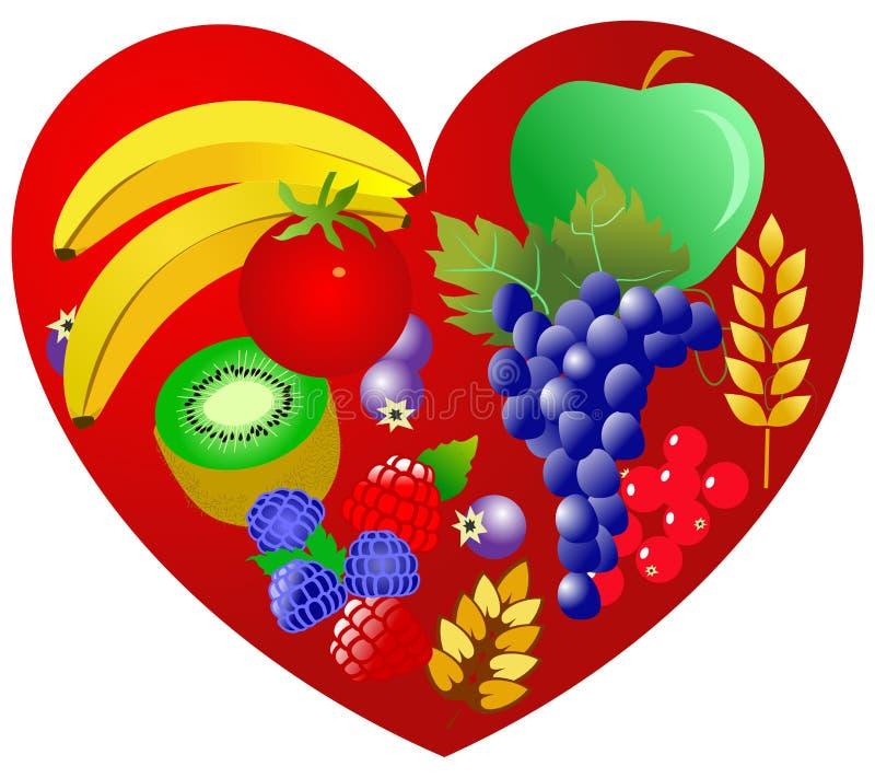 Gesundheit für Inneres - vegetarische Nahrung lizenzfreie abbildung