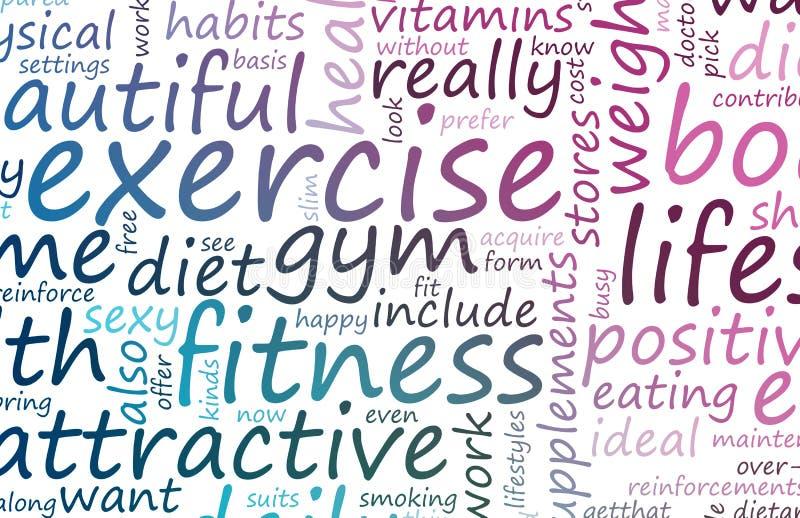 Gesundheit und Eignung stock abbildung