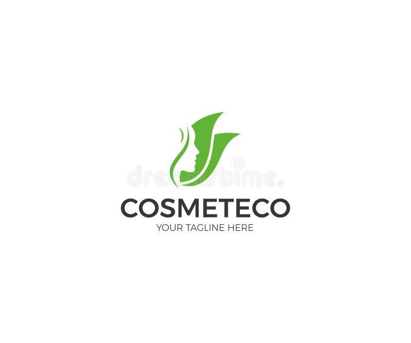Gesundheit und Schönheit Logo Template Kosmetisches Verfahrens-Vektor-Design stock abbildung