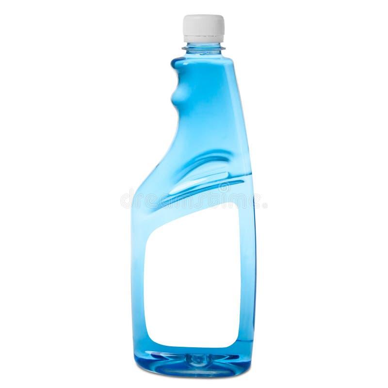 Gesundheitlich-hygienische Flasche Fl?ssigkeit f?r waschende Fenster stockfotos