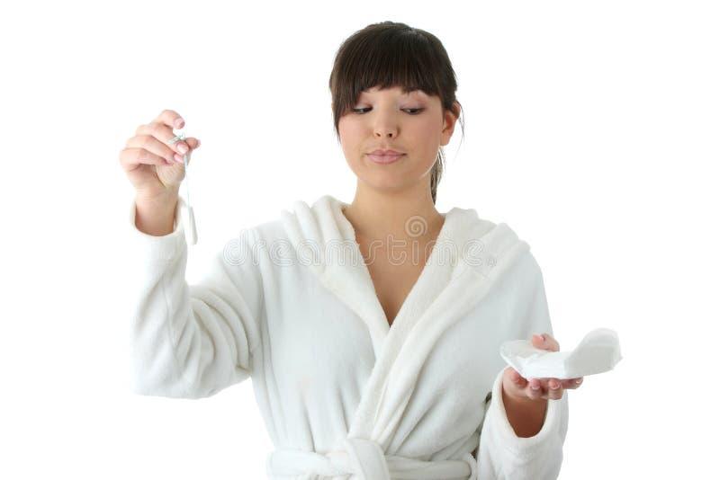 Gesundheitlich oder Tampon lizenzfreies stockbild