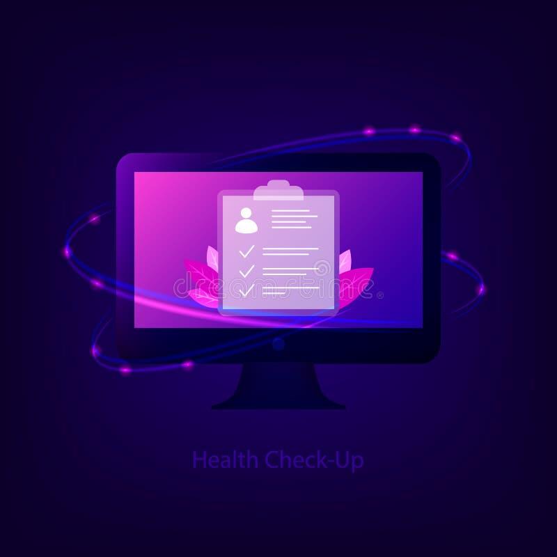 Gesundheits-Check herauf Konzept lizenzfreie abbildung