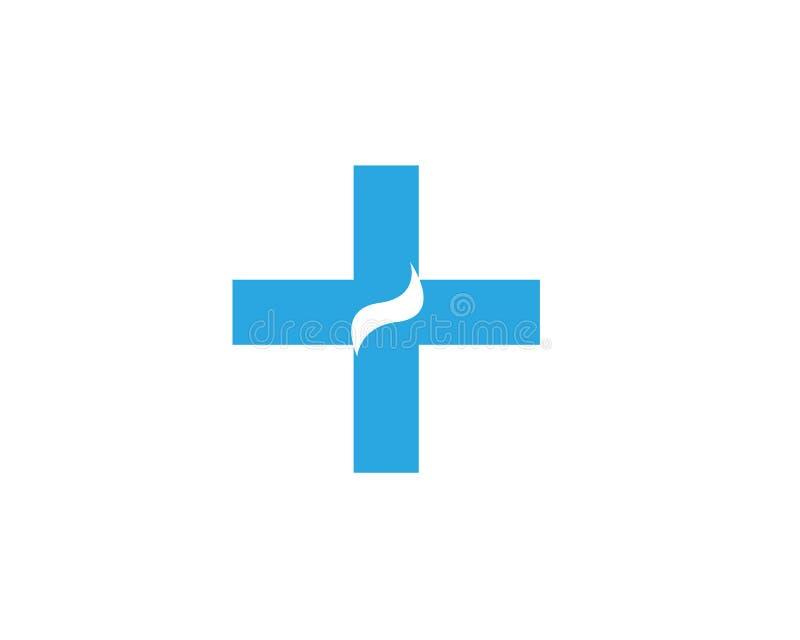Gesundheits-medizinischer Logoschablonenvektor lizenzfreie abbildung