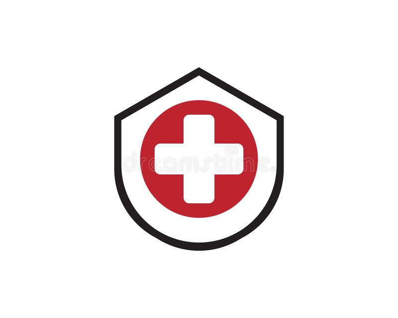 Gesundheits-medizinisches Logoschablonenvektor-Illustrationsdesign stock abbildung
