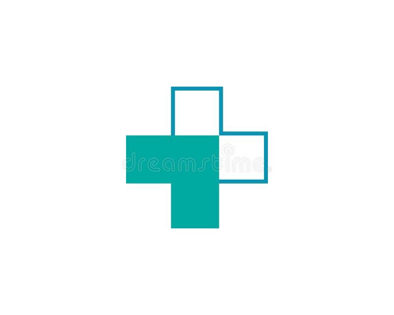 Gesundheits-medizinisches Logoschablonenvektor-Illustrationsdesign vektor abbildung