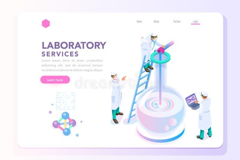 Gesundheits-und Schönheits-Laborfahne lizenzfreie abbildung