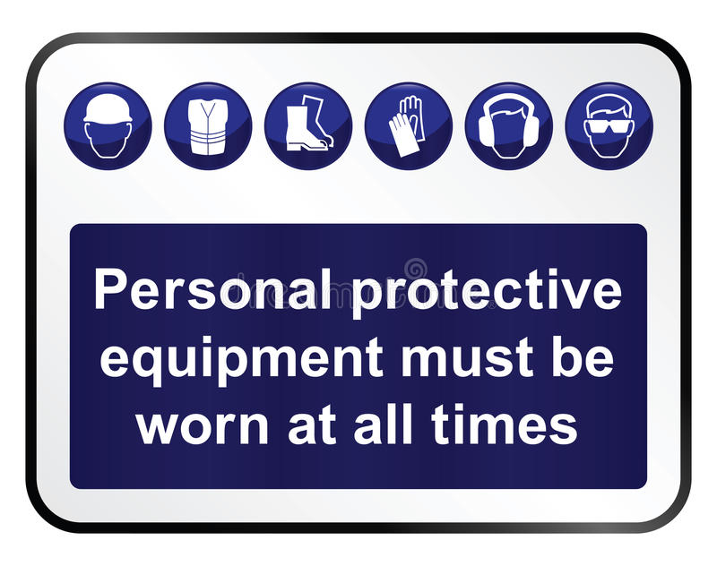 Gesundheits-und Sicherheit Zeichen lizenzfreie abbildung