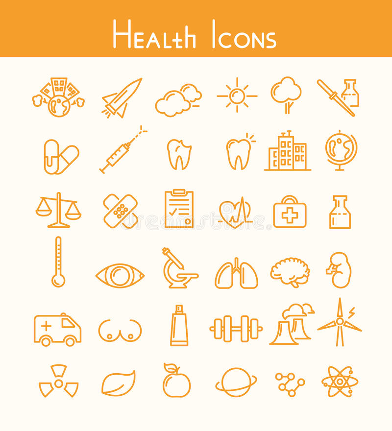Gesundheitsikonen lizenzfreie abbildung