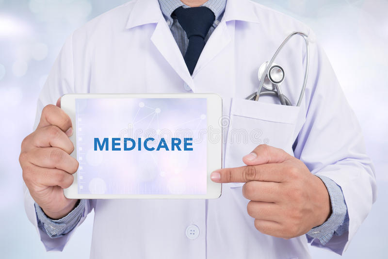 Gesundheitskonzept - MEDICARE lizenzfreies stockbild