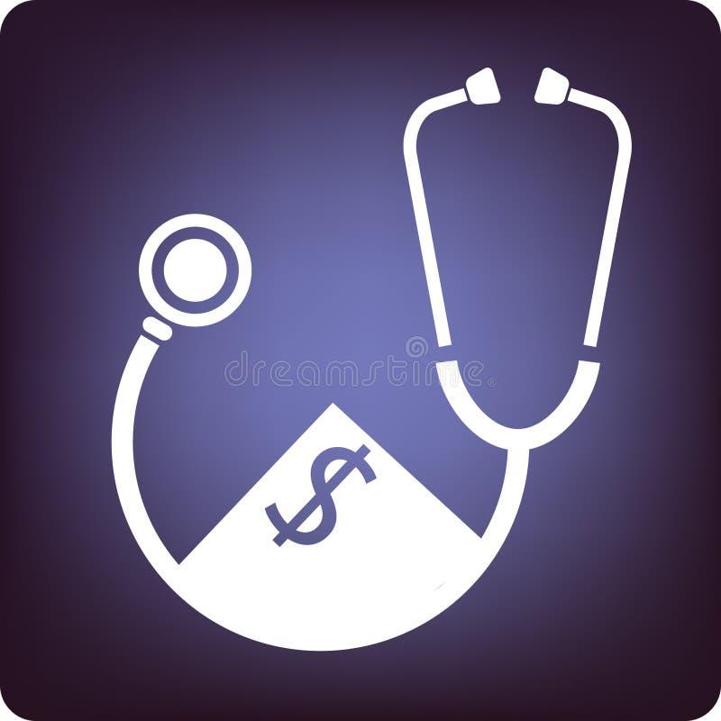 Gesundheitskosten vektor abbildung