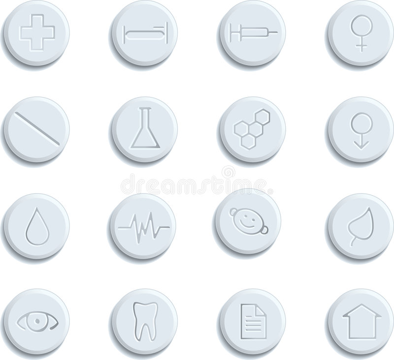 Gesundheitspflege- u. Pharmaikonen vektor abbildung
