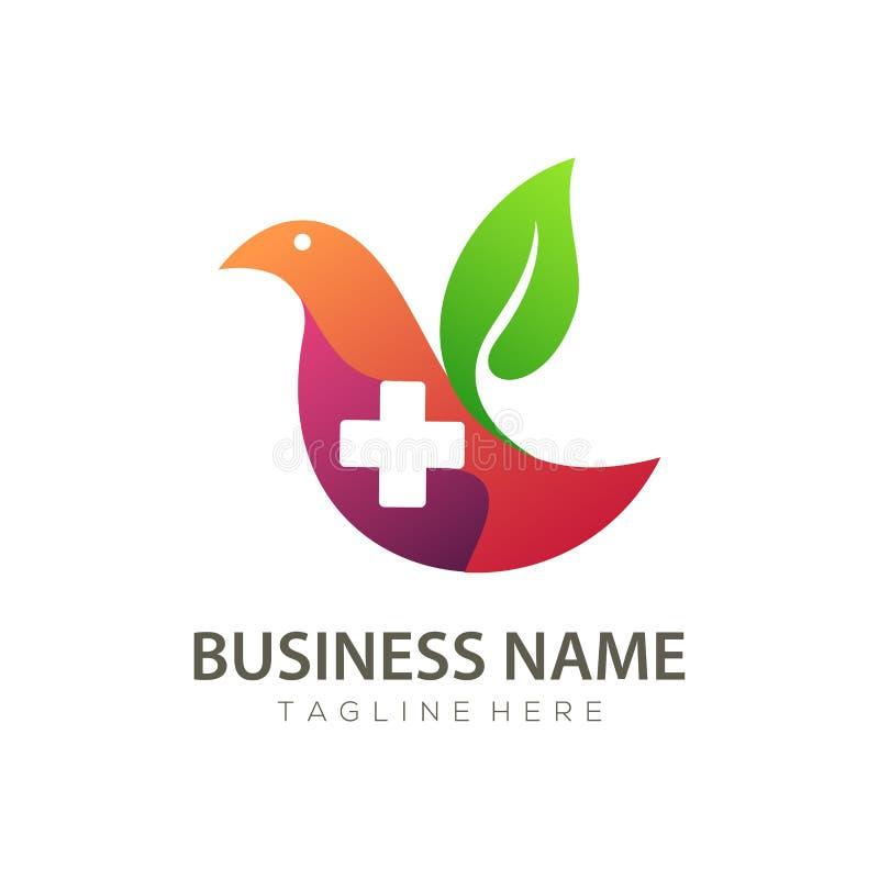 Gesundheitspflege zu Haus-Logo und Ikonenentwurf vektor abbildung