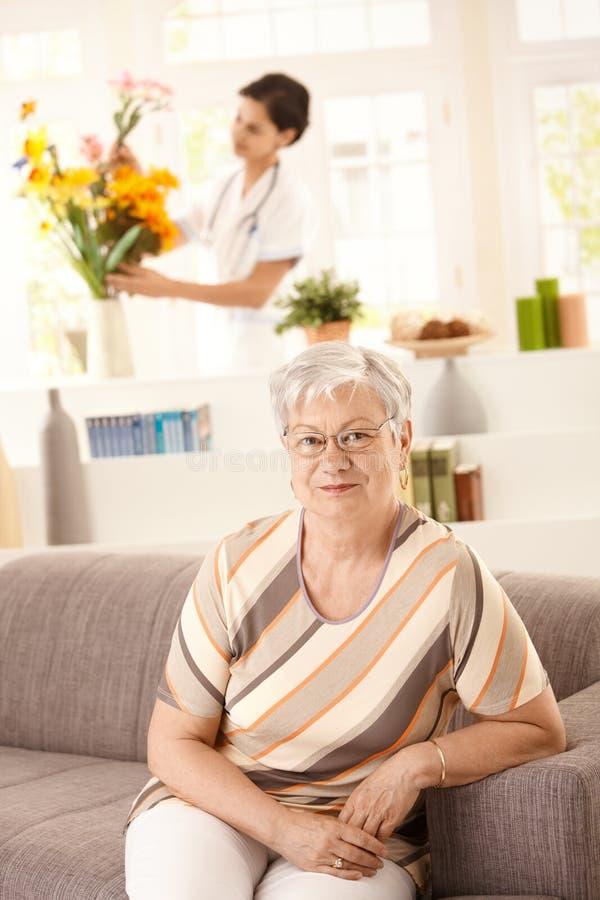 Gesundheitspflege zu Hause lizenzfreies stockfoto