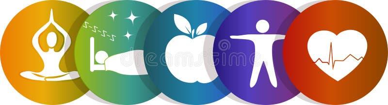 Gesundheitssymbolregenbogen stock abbildung