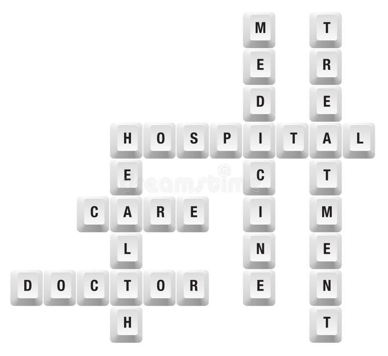 Gesundheitstaste stock abbildung