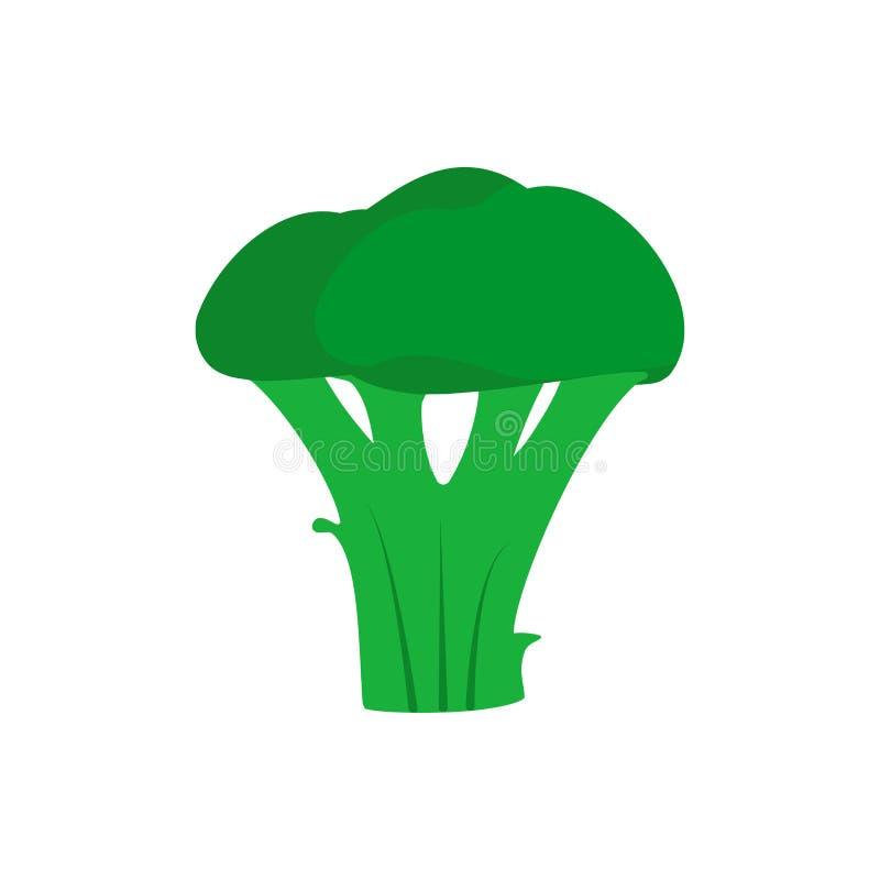 Gesundheitsvitaminbetriebsvektorikone des Brokkolis grüne natürliche Draufsichtgemüse der Bestandteillandwirtschaft flaches köstl stock abbildung