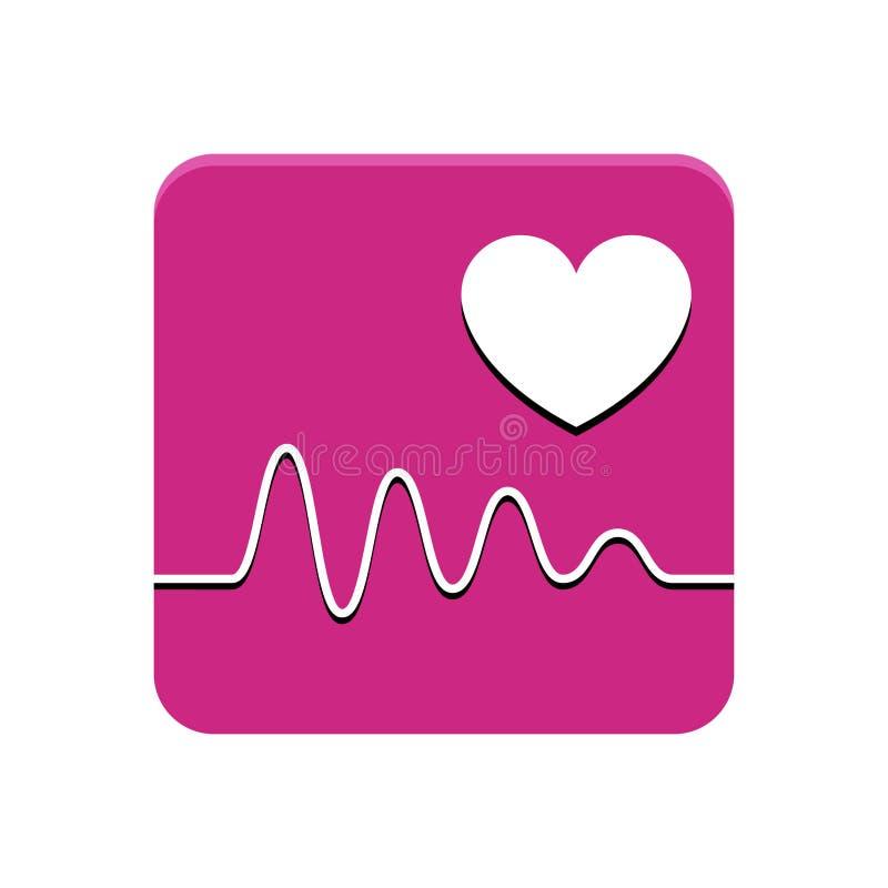 Gesundheitswesen-APP-Knopf vektor abbildung
