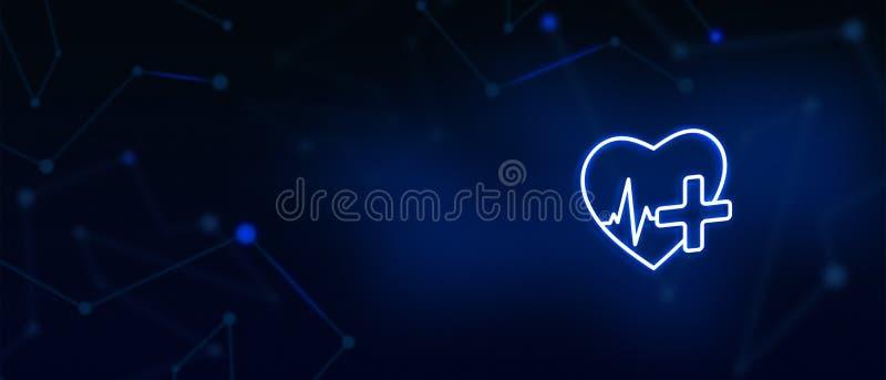 Gesundheitswesen und Medizin, Nothilfe, gesunder Lebensstil, Herz, Impuls, gesundes Herz, medizinische Überprüfung, Apotheke, Eig vektor abbildung