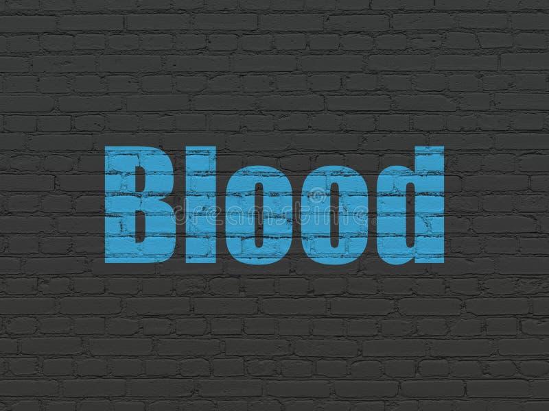 Gesundheitswesenkonzept: Blut auf Wandhintergrund stock abbildung