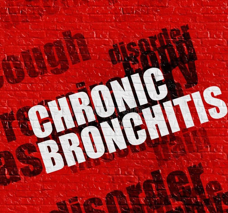 Gesundheitswesenkonzept: Chronische Bronchitis auf rotem Brickwall lizenzfreie abbildung