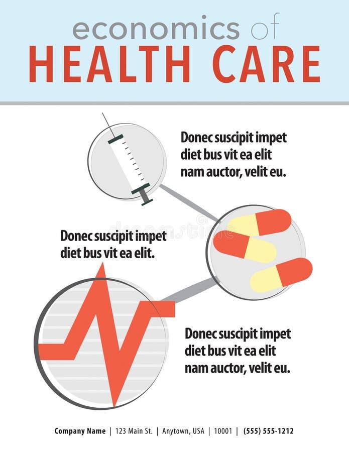 Gesundheitswesenverkaufsblatt lizenzfreie abbildung